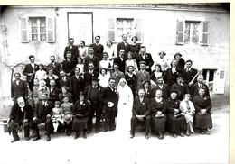 18 CHATEAUMEILLANT  , PHOTO MARIAGE Par PHOTO MARCEL ,   ( Dim  Photo 22 ,5 X 16,  Avec Carton 34 X 25 ) - Lieux