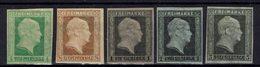 Allemagne - 1850-56 - N° 1 à 5 - Réimpression Sur Papier Filigrané, Nuances Beaucoup Plus Pâles Que Les Originaux - TB - - Prusse