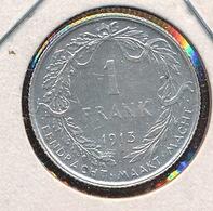 BELGIE ALBERT I  1 FRANK  1913  PRACHTSTAAT    2 SCANS - 07. 1 Franc
