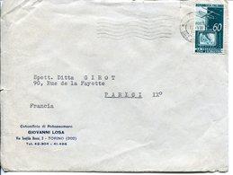 Repubblica (1954) - Busta Per L'estero - 6. 1946-.. Repubblica