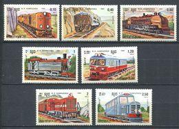 247 KAMPUCHEA 1964 - Yvert 463/69 - Train Locomotive Chemin De  Fer - Neuf ** (MNH) Sans Trace De Charniere - Kampuchea