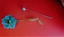 Vintage Accessoire 2 épingleS Aiguille à Chapeau Dame Tige Métal Retro Décor -art Nouveau Hat Pin Historical Clothing - Coiffes, Chapeaux, Bonnets