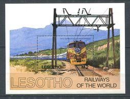 247 LESOTHO 1984 - Yvert BF 27 - Train Locomotive Chemin De Fer - Neuf ** (MNH) Sans Trace De Charniere - Lesotho (1966-...)