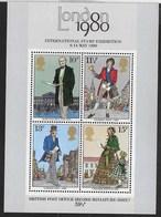GRAN BRETAGNA - LONDON 1980 - INT. STAMP EXHIBITION - FOGLIETTO NUOVO** (YVERT BF 02 - MICHEL BL 02) - Esposizioni Filateliche