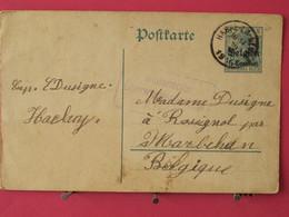 Allemagne - Entier Postaux - Postcarte - De Habay La Neuve Pour Marbehan (Belgique) - Scans Recto-verso - Zone Belge