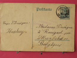 Allemagne - Entier Postaux - Postcarte - De Habay La Neuve Pour Marbehan (Belgique) - Scans Recto-verso - Zona Belga