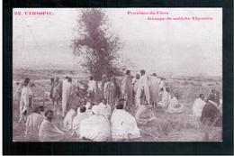 ETHIOPIE Province Du Choa - Groupe De Soldats Abyssins Ca  1905 OLD  POSTCARD - Ethiopië