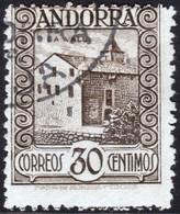 ~~~ Spanish Andorra Andorre 1929 - La Vall -  Perf 14 - A000,084 - Mi. 20 A (o) - Cat. 120.00 Euro  ~~~ - Spaans-Andorra