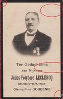 Julius Leclercq Celementina Dobbenie Nieuwkerke Schaerbeek Laken 1914 Bidprentje Doodsprentje Image Mortuaire - Devotieprenten