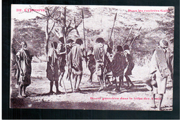 ETHIOPIE  Dans Les Contrées Galla - Danse Guerrière Dans La Tribu Des Aouïa Ca  1905 OLD  POSTCARD - Ethiopië