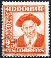 ~~~ Spanish Andorra Andorre 1951 - Definitives - Mi. 55 (o)  ~~~ - Spaans-Andorra