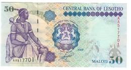 Lesotho 50 Maloti 2009 S/N AA UNC .C4. - Lesoto