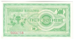 Macedonia 500 Denari 1992 UNC .C4. - Macedonia