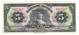 Mexico 5 Pesos 08/11/1961 UNC .C4. - México