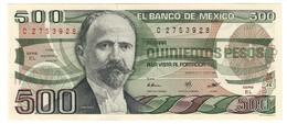 Mexico 500 Pesos 07/08/1984 UNC .C4. - Mexico