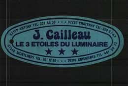 Autocollant  - Les 3 Etoiles Du Luminaire   J. CAILLEAU à Coignières 78 - Autocollants