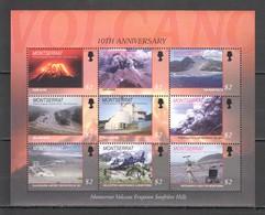 O554 MONTSERRAT GEOLOGY VOLCANO ERUPTION SOUFRIERE HILLS # 1286-94 !!! MICHEL 16 EURO !!! 1SH MNH - Volcans