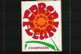 Autocollant  -   CORSO FLEURI VERZY   Champagne - Autocollants