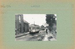 TRAM  VICINAL  LASNE  STATION GARE    PHOTO 8.5 X 5.5 CM - Lasne