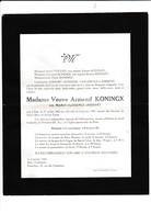 DOODSBRIEF-BOST-TIENEN-MARIE-FLORENCE JOSSART-VEUVE-ARMAND KONINGX-1941-RARE-VERSTUURD NAAR GEETBETS-ZIE DE 2 SCANS! ! - Décès