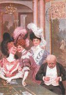 JEU JEUX CASINO TABLE ROULETTE CPM REPRODUISANT CARTE ANCIENNE 1915 SCÈNE DE LA BELLE EPOQUE  EDIT. ARTAUD - Cartes Postales