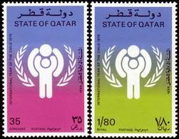 ~~~ Qatar 1979 - Year Of The Child - Mi. 749/750 ** MNH ~~~ - Qatar