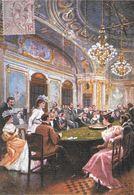 JEU JEUX CASINO TABLE ROULETTE CPM REPRODUISANT CARTE ANCIENNE 1918 SCÈNE DE LA BELLE EPOQUE  EDIT. ARTAUD - Cartes Postales