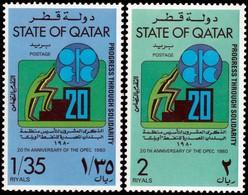 ~~~ Qatar 1980 - OPEC Oil Production - Mi. 790/791 ** MNH ~~~ - Qatar