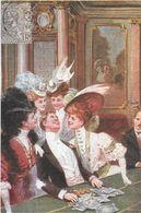 JEU JEUX CASINO TABLE ROULETTE CPM REPRODUISANT CARTE ANCIENNE 1914 SCÈNE DE LA BELLE EPOQUE  EDIT. ARTAUD - Cartes Postales