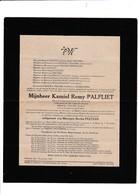 DOODSBRIEF-LEYSELE-OORBEEK-TIENEN-RIJKSWACHT-OPPERWACHTMEESTER-KAMIEL PALFLIET+1945-OORLOGSKRUIS-IJZERKRUIS-RARE-! ! - Décès