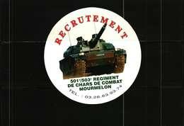 Autocollant  -    RECRUTEMENT  501e/503e Régiment De Chars De Combat  à  MOURMELON  51 - Autocollants