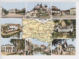 Mouy De L' Oise : Multivues Géographique Cp Vierge  N°500 Combier - Mouy