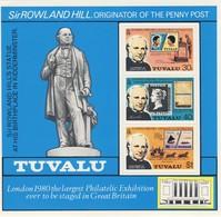 TUVALU 1979 BLOC  R.HILL    YVERT N°B3  NEUF MNH** - Rowland Hill