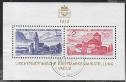LIECHTENSTEIN - LIBA ESPOSIZIONE FILATELICA - FOGLIETTO USATO - (YVERT BF 12 - MICHEL BL 09) - Esposizioni Filateliche