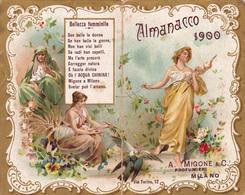 CALENDARIETTO  ALMANACCO MIGONE 1900 SEMESTRINO - Altri