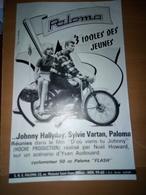 Affiche Publicitaire Ancienne Paloma Avec Johnny Hallyday Et Sylvie Vartan - Affiches