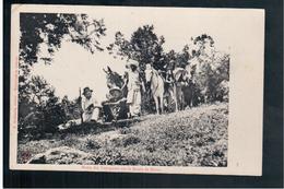 ETHIOPIE Halte Des Voyageurs Su La Route De Harar Ca  1915 OLD  POSTCARD - Ethiopië