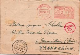 Erfurt 1943 - 25 Deutsches Reich - Aigle Eagle - Censure Zensur Censor - Germany