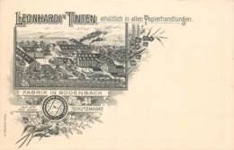 """Advertising - Publicité -"""" LEONHARDI TINTEN """" Erhältlich In Allen Papierhandlungen - Fabrik In Bodenbach - Werbepostkarten"""