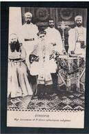 ETHIOPIE Mgr Jarosseau Et Pretres Catholiques Indigenes Ca  1915 OLD  POSTCARD - Ethiopië