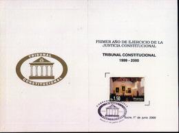Bolivia 2000 CEFIBOL 1605T Primer Aniversario Del Tribunal Constitucional. Tarjeta Conmemorativa. - Bolivie