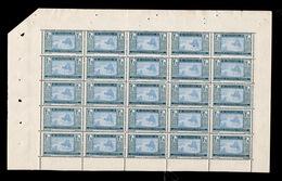 Mauritanie - YV 60B N**  En Panneau De 25 Timbres, à Peine Quelques Dents Séparées, Superbe Cote 75++ Euros - Ongebruikt