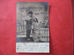 CPA - AUTOGRAPHE - LEON CAVALLO - CHANTEUR - Dédicacée  à   COQUELIN AINE - Autographs