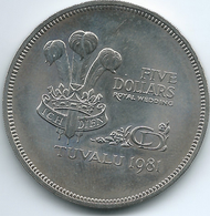 Tuvalu - Elizabeth II - 1981 - 5 Dollars - KM12 - Prince Charles & Lady Diana Wedding - Tuvalu
