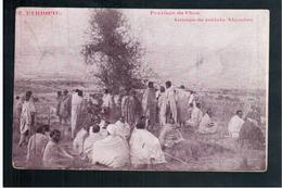 ETHIOPIE Province Du Choa - Groupe De Soldats Abyssins 1910 OLD  POSTCARD - Ethiopië
