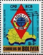 Bolivia 1979 CEFIBOL 1079T Homenaje Al Radio Club Boliviano. Tarjeta Conmemorativa. - Bolivie