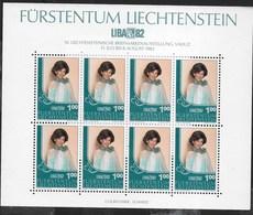 LIECHTENSTEIN - LIBA 82 - 10a ESPOSIZIONE FILATELICA - FOGLIETTO NUOVO** - (YVERT 739 - MICHEL 798) - Esposizioni Filateliche