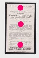 LIBRAMONT 1918 Mme FANNY CHAUVAUX épouse De JOSEPH PAPIER - Décès