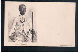 ETHIOPIE  Soldat Abyssin Ca 1910 OLD  POSTCARD - Ethiopia