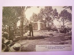 2019 - 1239  LA CLAYETTE  (Saône-et-Loire)  :  Inauguration Du Monument Aux MORTS  1921  - France